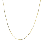 Ladies Men's Unisex 14K Yellow Gold Box 20 Inch Chain Necklace - New