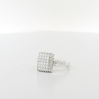 Brilliant Ladies Diamond 1.66 Carats Total 18K Fine White Gold Rare Jewelry