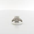 Brilliant Ladies Diamond 1.66 Carats Total 18K Fine White Gold Rare Jewelry
