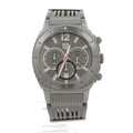 Andrew Marc Men's Heritage Scuba 3 Hand Chronograph Grey LP Rubber Band Watch A11202TP01