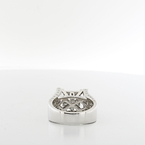 Mesmerizing Composite Princess 1.75CTW Ladies Or Mens Diamond 14K White Gold Ring
