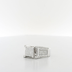 Mesmerizing Composite Princess 1.75CTW Ladies Or Mens Diamond 14K White Gold Ring