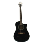 Fender Black Acoustic Electric 6 String Electric Guitar CD 140SCE CD140SCE