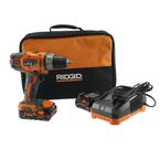"Ridgid X4 18 Volt 1/2"" Cordless Compact Drill/Driver Kit - R860052K/R86008"