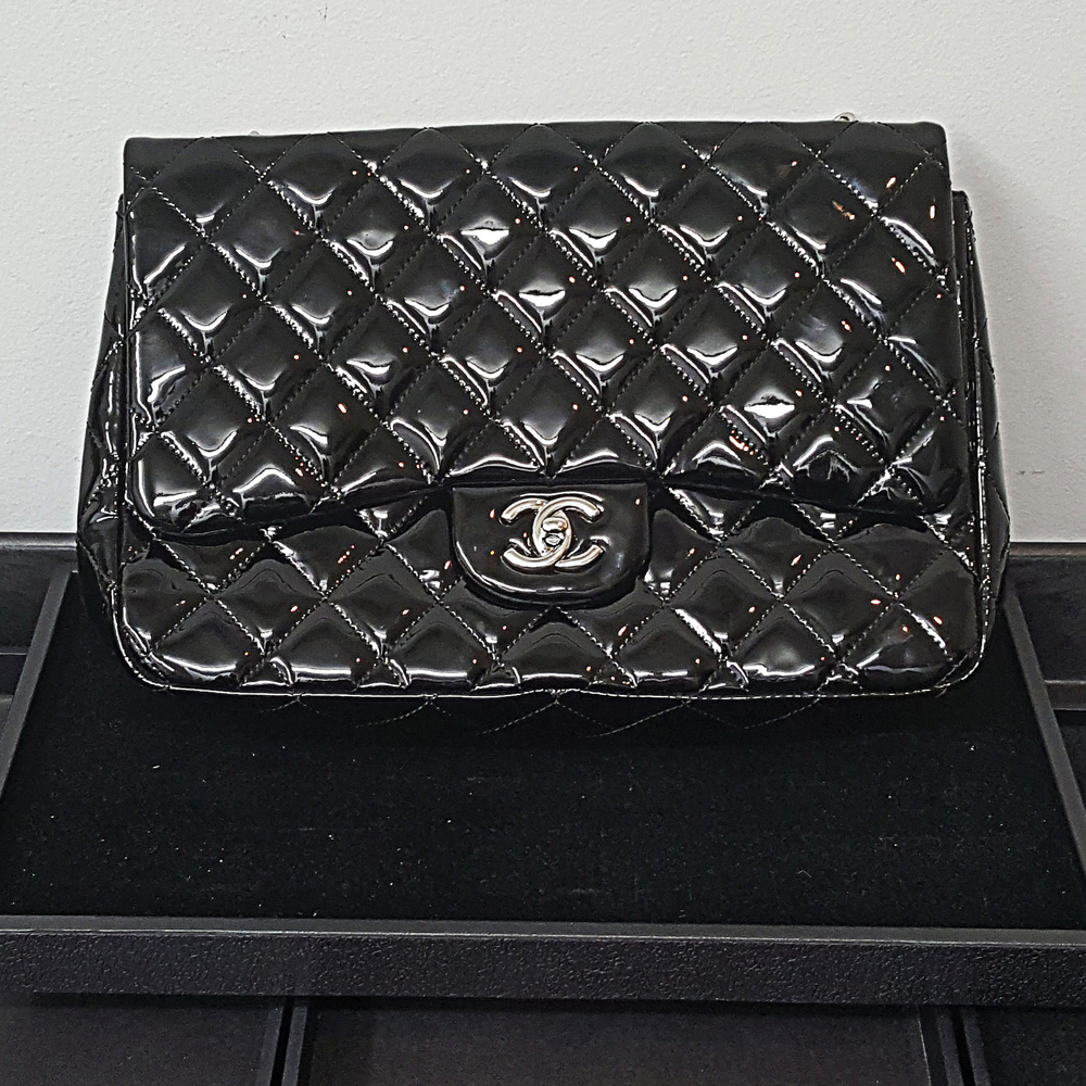 bebf97ad1845 Chanel Coco Shine Quilted Classic Jumbo Bag Leather 2.55 Double Flap Handbag  | Online Pawn Shop | Out Of Pawn