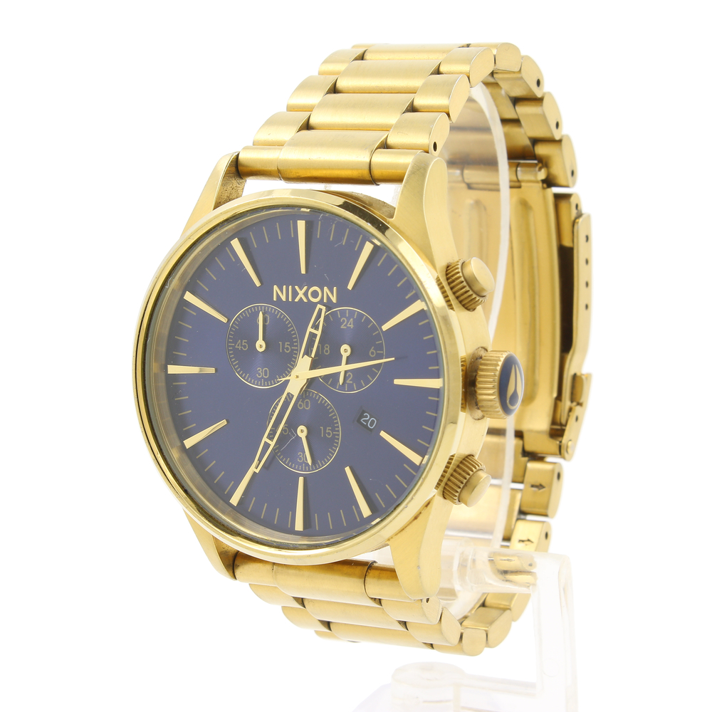 b3af8a144 Nixon Never Be Late Sentry Chrono Gold Blue Dial Sunray A386-1922 Men's  Watch. 53025abe52e50a5d37226e68e8d14629. E202a2401d5430ac9c308c0432c12f15
