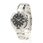 Bulova Men's Marine Star Screw Black Dial Alarm Stainless Steel Watch 96B87