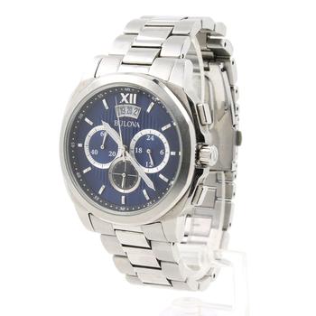 Bulova 96B219 Chronograph Stainless Steel Classic Blue Dial 100M Men's Watch