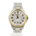 Mens Victorinox Swiss Army Officers Two-Tone Stainless Steel 40mm Watch - 241362
