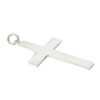 Vintage Classic Estate 925 Silver High Polished Cross Pendant