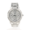 Ladies Bulova Stainless Steel Mother of Pearl Dial Diamond Bezel Watch - 96R45
