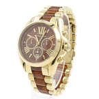 Michael Kors Bradshaw Women's Chronograph Tortoise Gold Tone Watch MK 6269