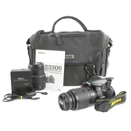 Nikon D3300 SLR 24.2 MP Digital Camera 55-200mm & 18-55mm Lens Bundle Kit