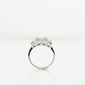 Ladies Heirloom 1.13 CTW Princes Invisible Set Diamond AIG 14K White Gold Ring