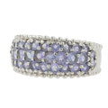 Gorgeous Vintage Classic Estate Ladies 10K White Gold Lite Purple Amethyst Ring