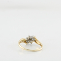 Dazzling Ladies 14K Yellow Gold Round Diamond Flower Cluster Ring Size 7 BUY NOW