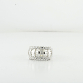 Stunning White Gold Baguette & Round Diamond ladies Cocktail 1.26CTW Ring