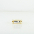 Mens Handsome 0.83CTW Round Diamond Box Classic Design 18K Fine Yellow Gold Ring