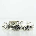 100% Authentic Chrome Hearts Mens Rock Star Circa 2005 Solid Silver 925 Bracelet