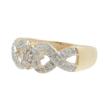 Ladies Vintage Classic Estate 10K Yellow Gold Rosita Diamond Cluster Ring Band