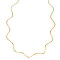 Ladies Modern 14K Yellow Gold Zigzag Design 18 inch Chain Necklace - New