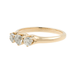 Ladies Estate 10K Yellow Gold Diamond Anniversary Wedding Ring Band - 0.50CTW