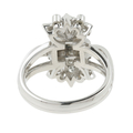 Ladies Estate Platinum 10% IRID Floral Design Diamond Cocktail Ring - 0.42CTW