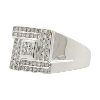 Men's Vintage Classic Estate 10K White Gold Diamond Ring - 0.85CTW