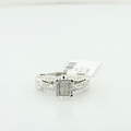 Mesmerizing Composite Princess Ladies 0.65CTW Diamond 14K White Gold Ring Size 7