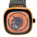 SevenFriday Industrial Essence Orange Dial Audtiomatic Mens Watch P1-3