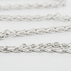 Luxury Designer Mellerio Chain 18K White Gold 24 Inch Necklace