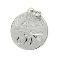 Vintage Estate Wells Sterling Silver 925 Graduation Charm Disc-Shaped Pendant