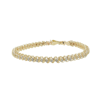 Ladies Classic Estate 14K Yellow Gold Round Diamond Tennis Bracelet - 1.96CTW