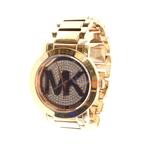 Ladies Michael Kors Rose Gold-Tone Crystal Pave Dial 40mm Watch - MK3394