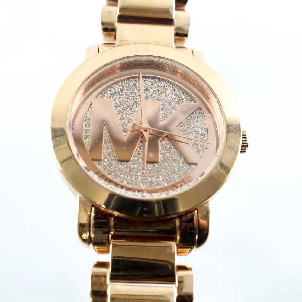 2345db9c53fb Ladies Michael Kors Rose Gold-Tone Crystal Pave Dial 40mm Watch - MK3394.  8008b83ef2a55b234cc20a4461dc7877. 861360e82406a03494ae6002886889c5