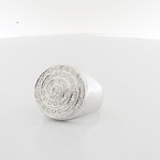 Stunning Mens Solid 14K White Gold 1.12 Carats Total Diamond XXL Pinky Ring
