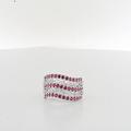 Mesmerizing Ladies Red Spinel & Diamond Filigree 14K White Gold Cocktail Ring