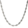 "Ladies Vintage Estate 925 Sterling Silver Twisted Style 18"" Chain Necklace"