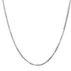 Ladies Mens Vintage Classic Estate 925 Silver Box Chain Necklace - 30 inch