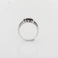Lovely Designer Ladies 1.20 Princes Cut Diamonds CTW 18K White Gold Ring