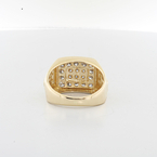 Mens Handsome Nugget Design 14K Yellow Gold .82 CTW Diamond Pinky Jewelry Ring