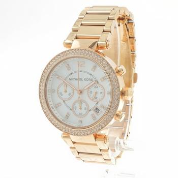 Michael Kors Women's Parker MK5491 Rose Gold Stainless Steel Quartz Watch