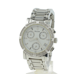 Bulova Ladies Dress Watch Chrono Diamonds Dial Stainless 96R19