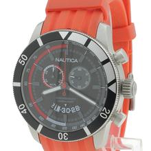 Nautica Men's N17584G NSR 08 Sporty Resin Chronograph Orange Rubber Band Watch