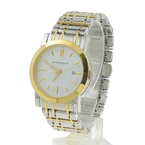 Burberry Gold Plated Stainless Steel Two Tone Steel Bracelet Ladies Watch