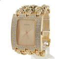 Guess Women's U0085L1 Rocker Glitz Multi Chain Gold Tone Bracelet Watch