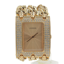 Guess Women's U0085L1 Rocker Glitz Multi Chain Gold Tone Bracelet Watch