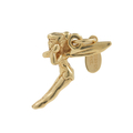 Vintage Estate 14K Yellow Gold Peter Pan's Tinkerbell Fairy 3D Charm Pendant