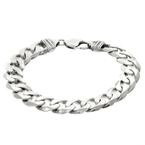 Men's Vintage Estate 925 Sterling Silver Cuban Style Link Bracelet - 7.5 inch