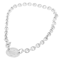 Ladies Tiffany & Co. Silver 925 Oval Tag Return to Tiffany Link Necklace - 21""